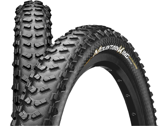 """Continental Mountain King 2.3 Folding Tyre 26"""" TLR E-25, black"""
